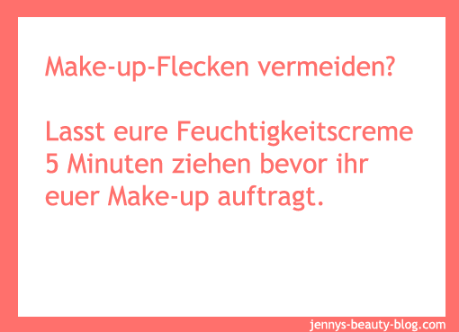 Make-up Flecken vermeiden