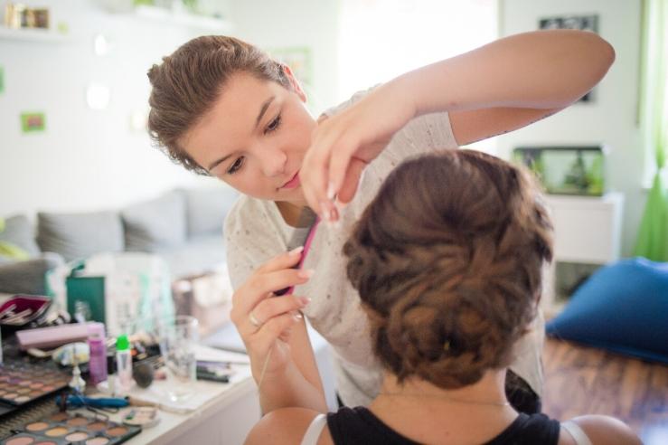 Braut Haare & Make-up l Foto: Jasmin Ritzel